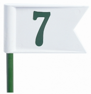 Pennant putting green markers