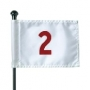 Flag putting green markers
