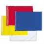 Plain polyester flags (set of nine)